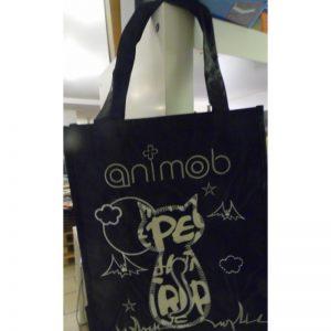 Cabas animob noir sur le thème du chat