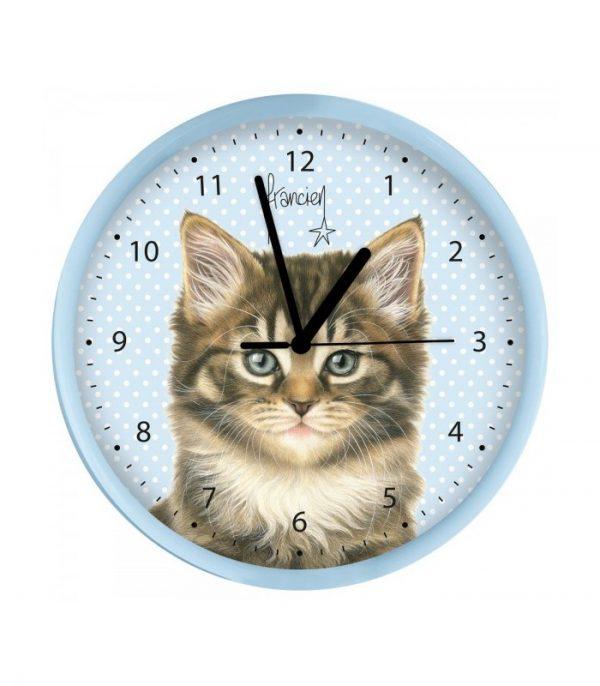 Horloge murale le chat de gouttière