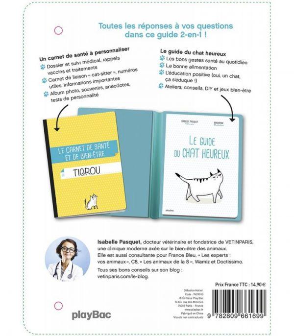 comment rendre mon chat heureux notebook le premier guide veterinaire avec son carnet de bien etre et de sante