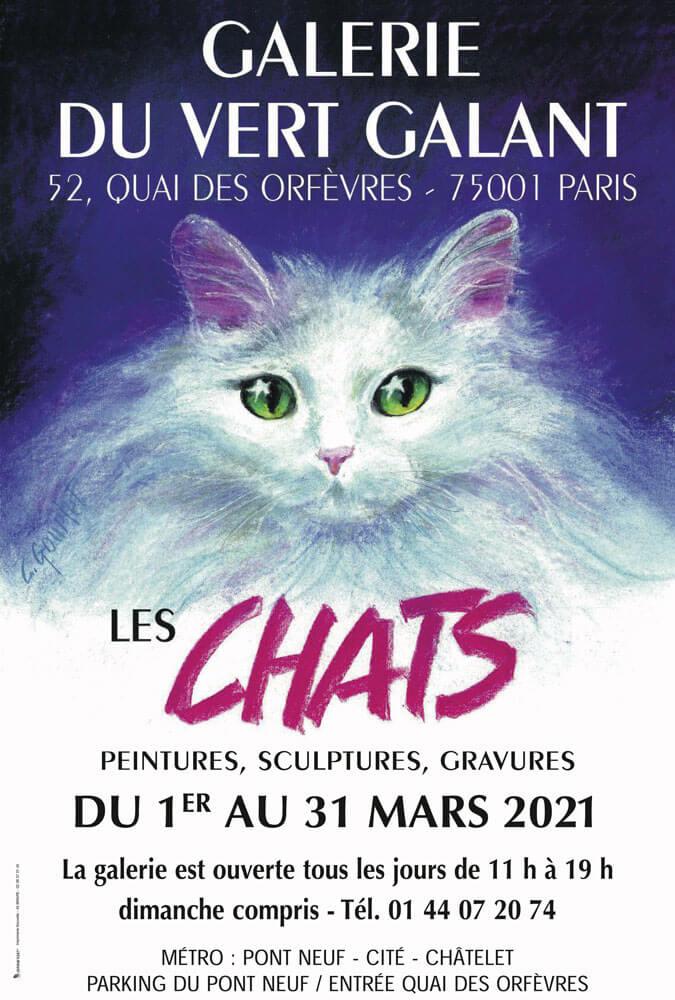 """Exposition """"Les Chats"""" à la Galerie Vert Galant à Paris"""