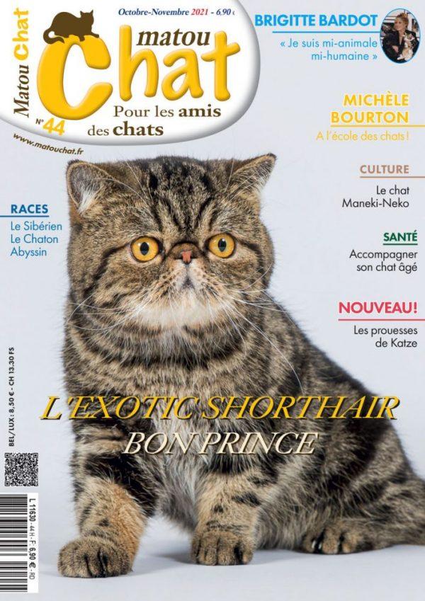 couverture du nouveau magazine matouchat N°44